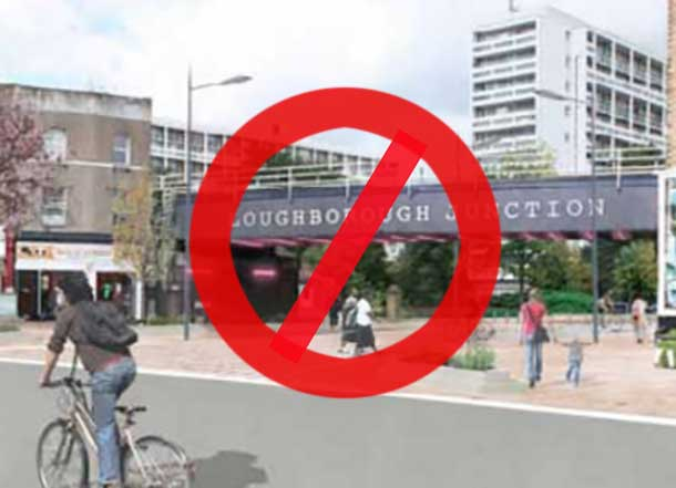 Artist's impression of Loughborough Junction redestrianised