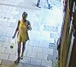 CCTV image of woman