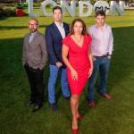 Sarah Willingham with fellow judges in the Dot London business awards