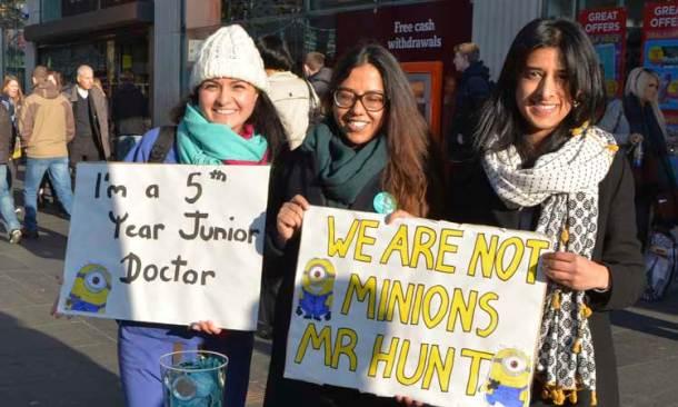 Junior doctors campaigning in Brixton