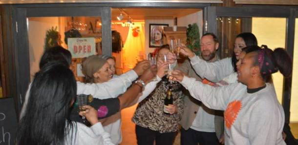 CoPop members toast their new venture at PopBrixton