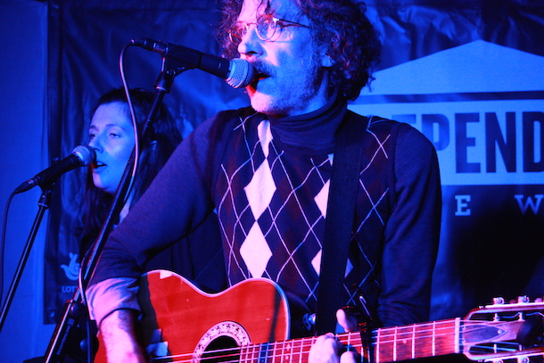 Martin Creed playing the Windmill. Photo by Holly Whitaker