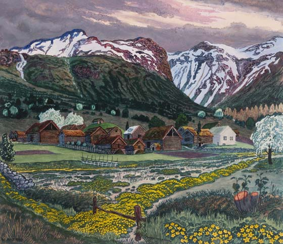 See Nikolai Astrup: Painting Norway at the Dulwich Picture Gallery