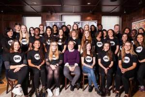 Mhairi Black MP with the youth ambassadors