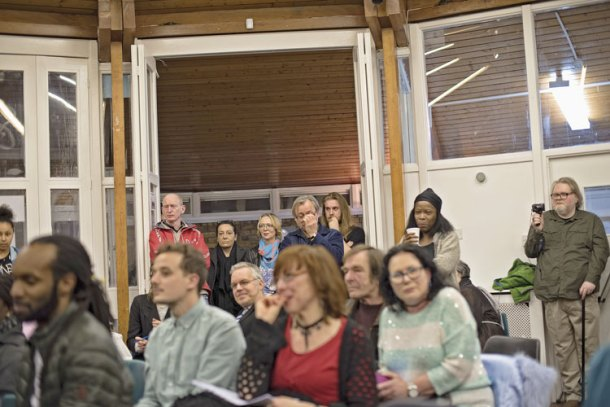 Worried Cressingham residents at the meeting where their People's Plan was launched. Picture: Angus Peters