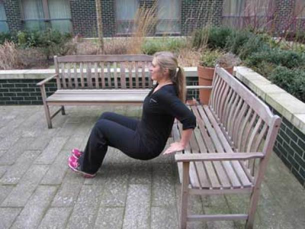 Bench exercise for triceps