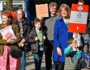 Herne Hill library protest