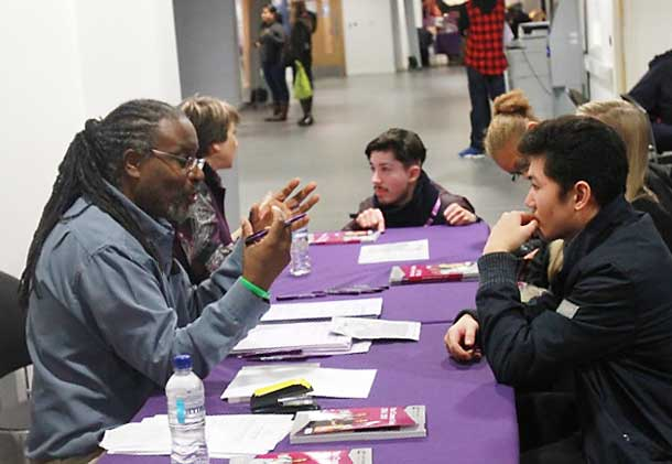 Lambeth College advice session