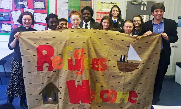 St Gabriel's College students welcome refugees