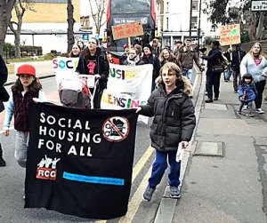 Youth housing march