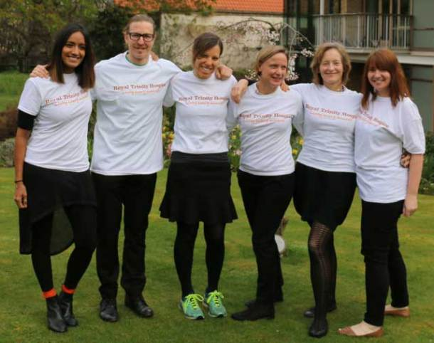 Six nurses from Trinity Hospice who will take the three mountain challenge
