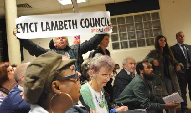 Protester at Tuesday's planning committee meeting