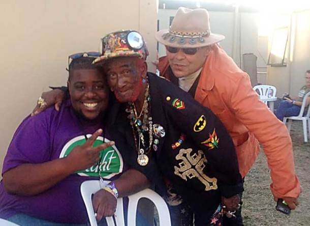 (l to r) Benny-P, Lee Scratch Perry, Craig Charles