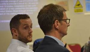 Steve Taylor (left) Network Rail town planning and heritage manager and Nigel Carr, Network Rail's development manger at the meeting