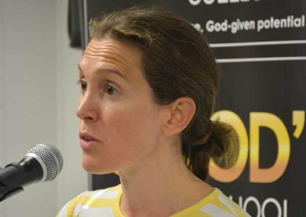 Samantha Palmer of Lambeth's refugees welcome team