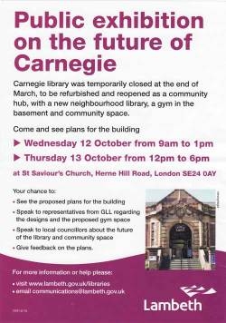 Carnegie exhibition flyer