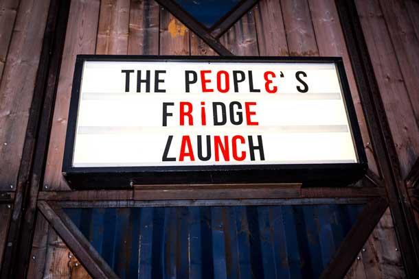 The People's Fridge Launch at Pop Brixton