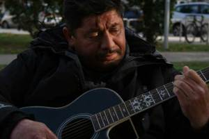 Musician in Windrush Square