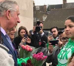 Prince Charles meets young people from BigKid Foundation
