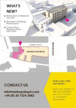 A plan on a flyer for the consultation exhibition showed the SW9 as unaffected