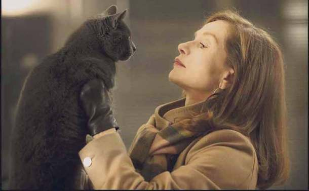 Isabel Huppert and friend in Elle