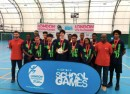 Ark Evelyn Grace Academy U16 Basketball Team with Ronnie Baker and Lewis Gabriele, DENG Academy at the London Youth Games 2017