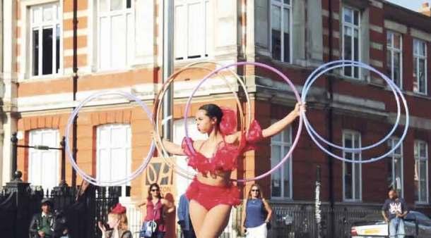 Brixton City Festival 2016 Mass hula hoop Windrush Square