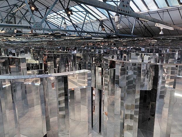 A Look Around Peckhams Mirror Maze Installation In