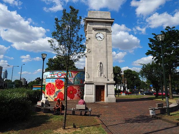 Stockwell War Memorial clock tower