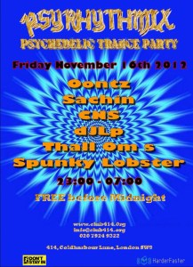 Psyrhythmix Psychedelic Trance Party at Club 414