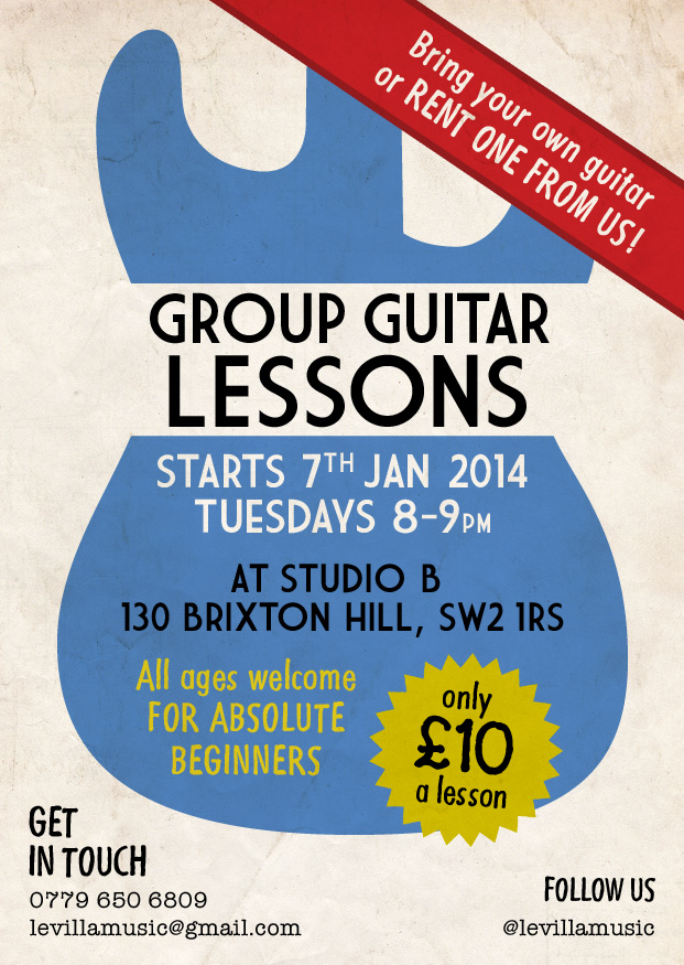 Group Guitar Lessons For Absolute Beginners Of All Ages
