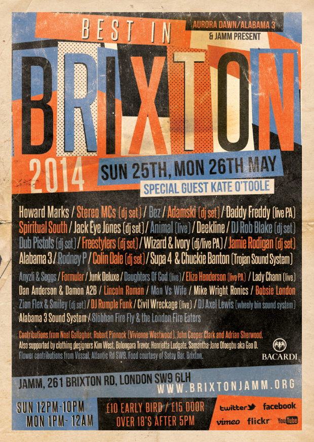 The 'Best In Brixton' Festival returns on May bank holiday weekend