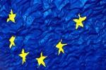 Ruffled European flag