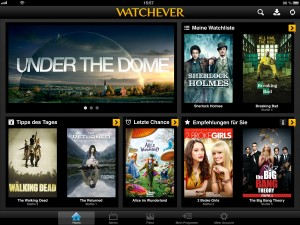 Watchever Screenshot iPad