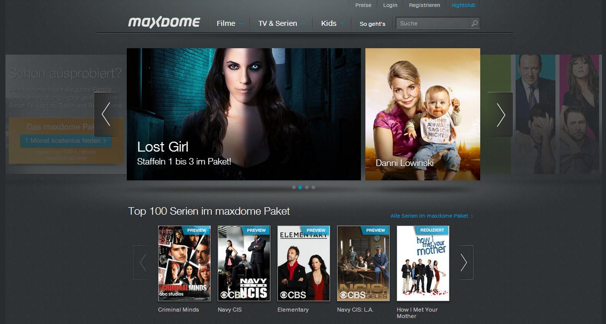 Maxdome Netflix