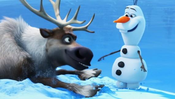 Frozen Snowman & Elk