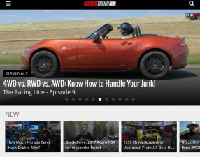 Motor Trend OnDemand - Mobile Home Screen (TEN)