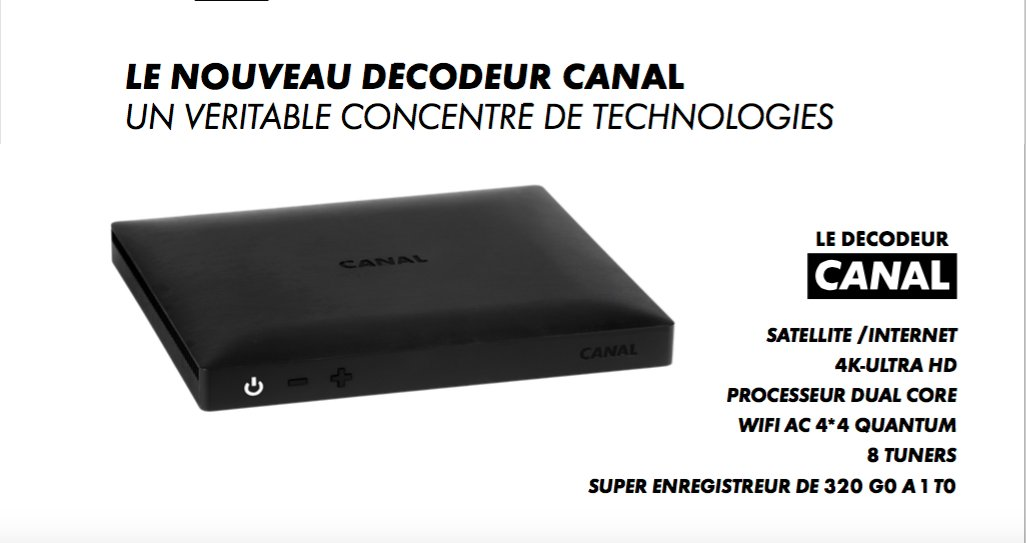 Canal group launches ultra hd at astra 19 2 degrees east - Nouveau decodeur canalsat 2017 ...