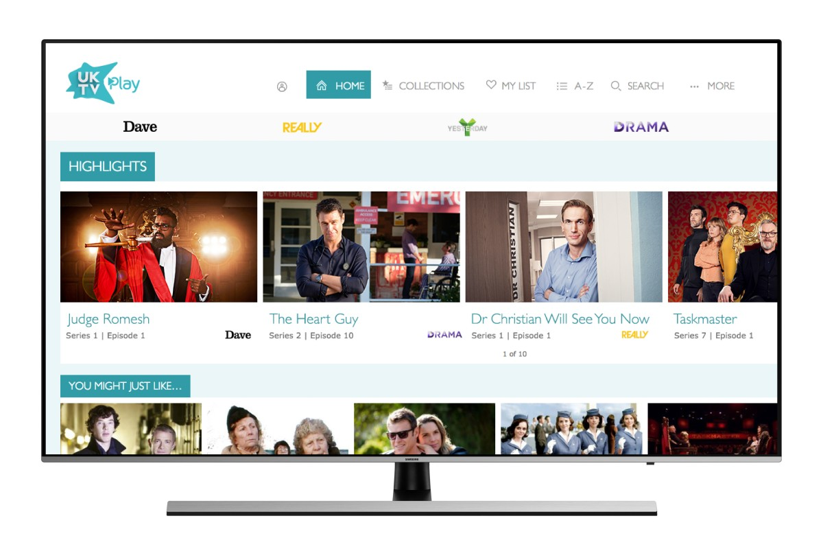 UKTV app added to Samsung Smart TVs