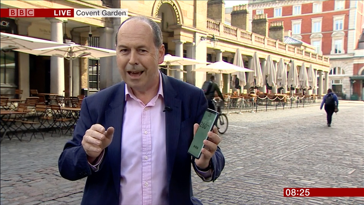 BBC makes live 5G TV contribution