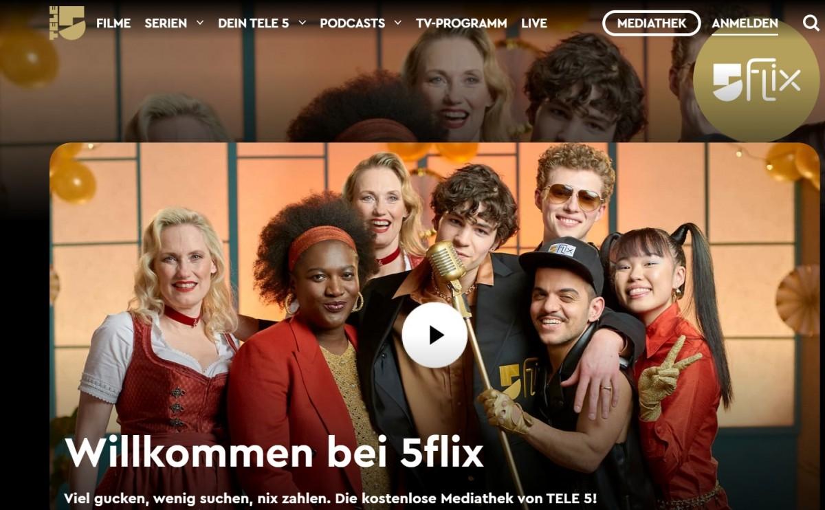 Tele 5 launches TV app 5flix