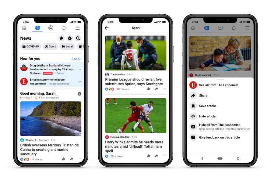 Facebook's News tab arrives in the UK