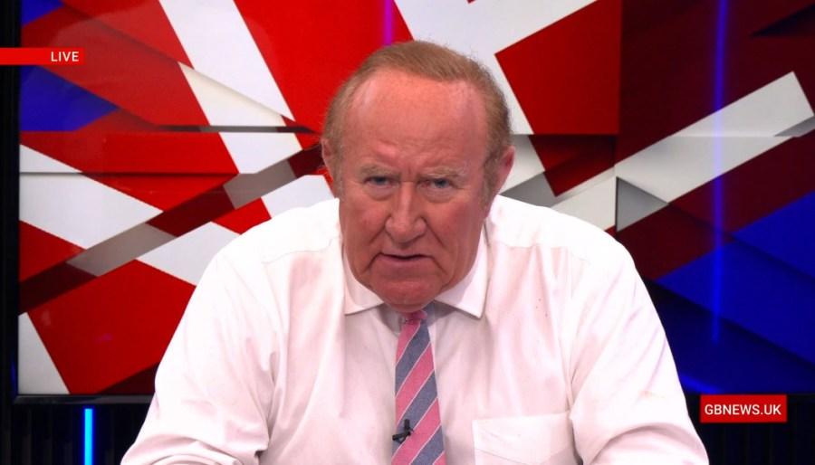 GB News presenter Andrew Neil takes a break