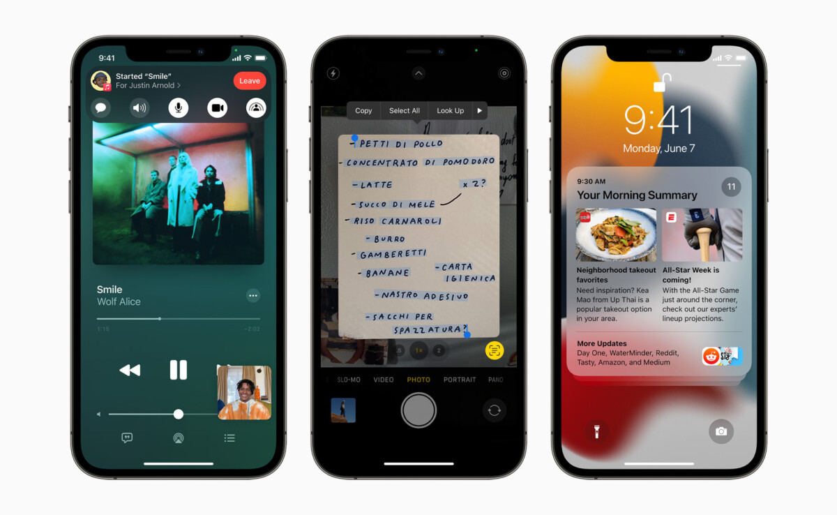 Apple iPhone12Pro iOS15 Apple TV to include new Shareplay feature