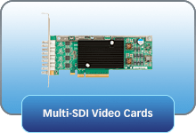 Tarjetas de video multi-SDI