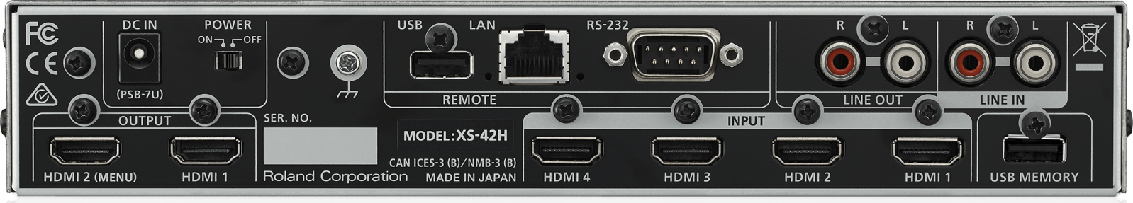 Roland XS-42H Connections
