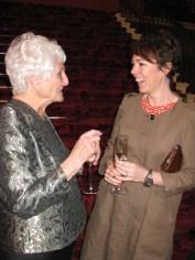 Harvey Lee winner Beryl Virtue with Breakthrough Artist Olivia Colman