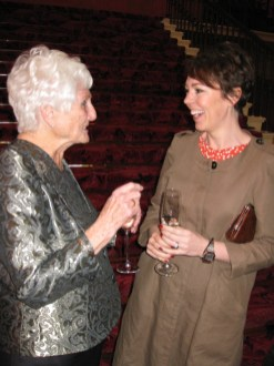 Harvey Lee winner Beryl Virtue with Breakthrough Artist Olivia Colman