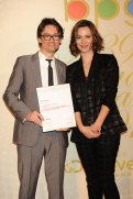 John Plunkett with Best Actress Rebecca Hall