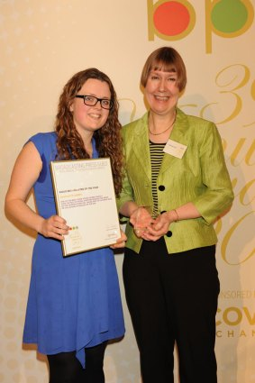 Maisie McCabe with Charlotte Green, winner of Radio Broadcaster of the Year